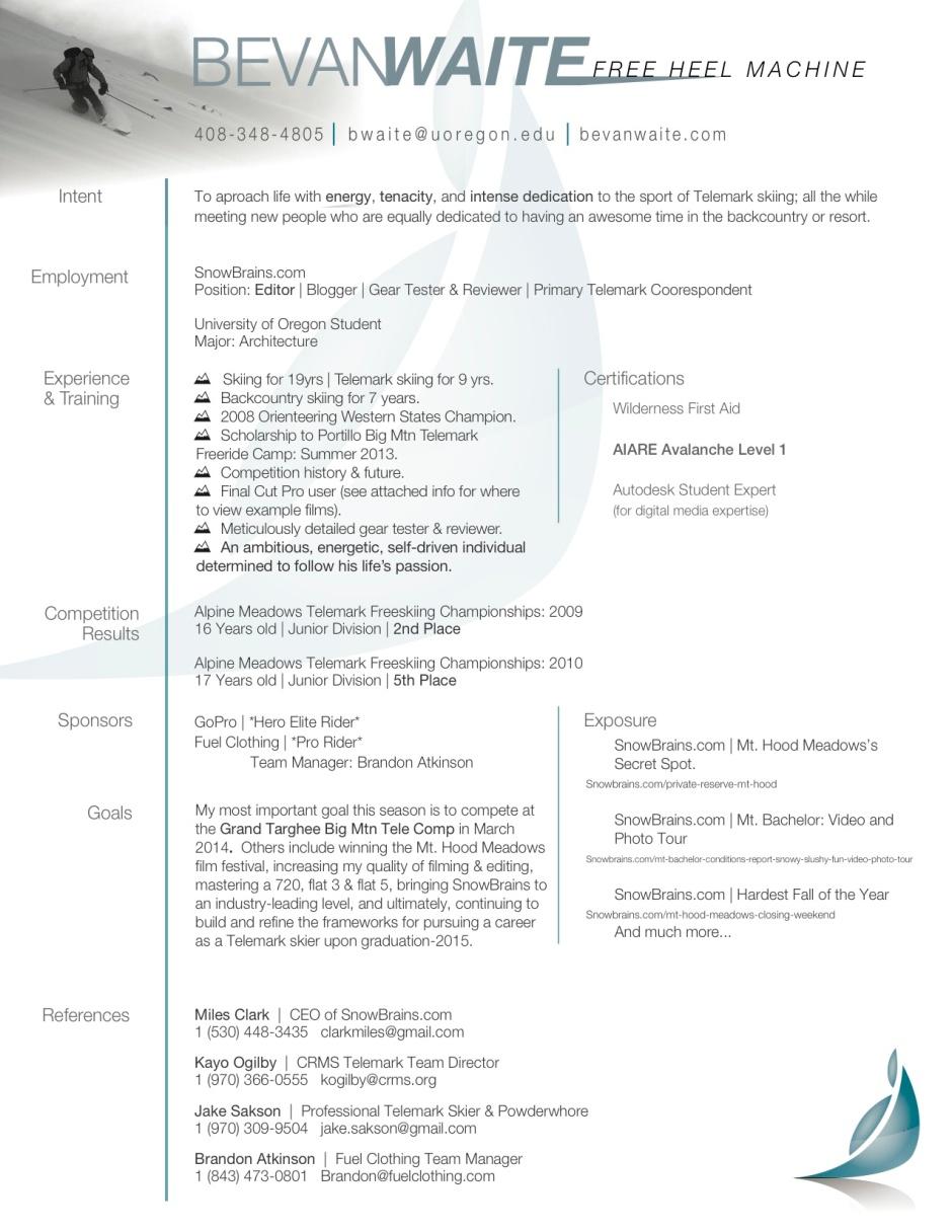 Ski Resume JPEG
